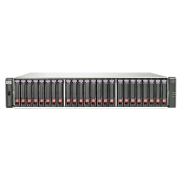 HP BV914A (24) SFF SAS Supported (12) 600 GB 6G 10K SFF Dual-port SAS Included 7.2 TB Raw Included 8 Gb Fibre Channel (2) Ports per controller Included (2) P2000 G3 Fibre Channel MSA Controller Included
